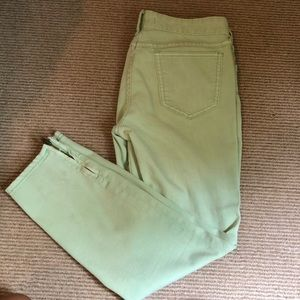 Light green free people jeans